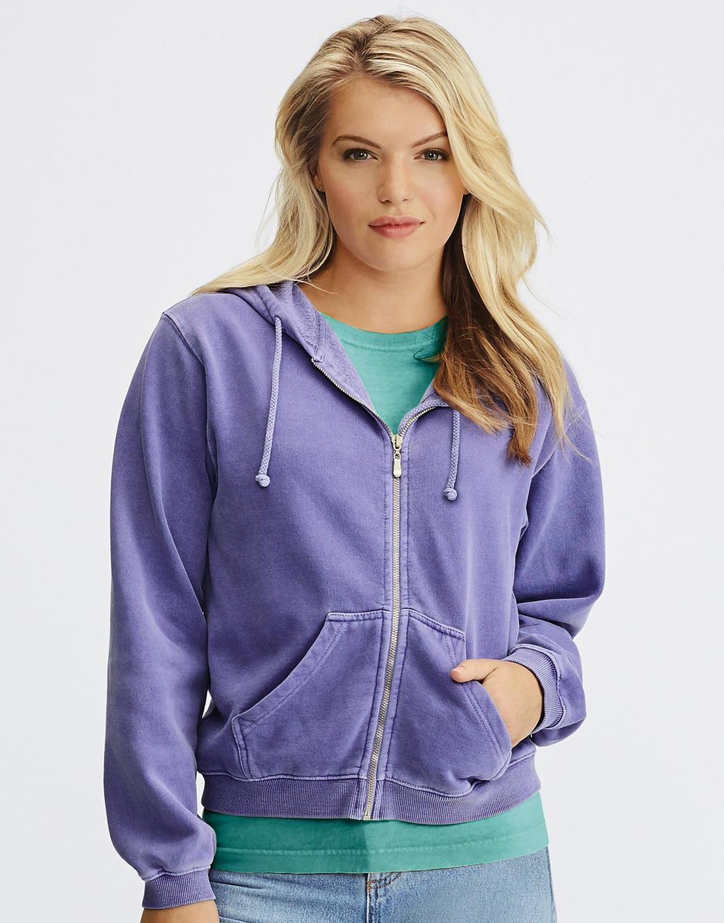 Sweats shirts personnalisable : Sweat capuche zippé femme