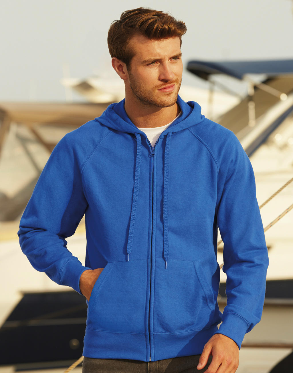 Sweats-shirts personnalisable   Lightweight Hooded Sweat Jacket ,Fruit of  the Loom 442cccb8fec8
