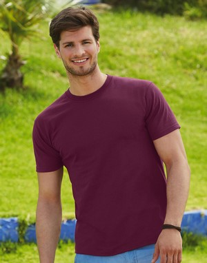 T-shirts fruit of the loom impression directe marron