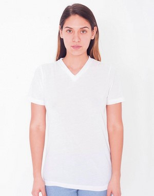 T-shirts col v 100 % polyester