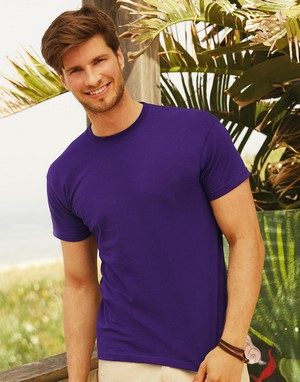 T-shirts fruit of the loom impression directe violet publicitaire