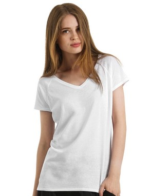 T-shirts col v coupe droite