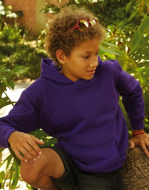 Sweats-shirts enfant unicolor impression directe
