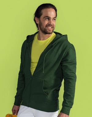 Sweats-shirts avec zip broderie rose