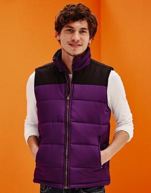 Bodywarmers broderie violet