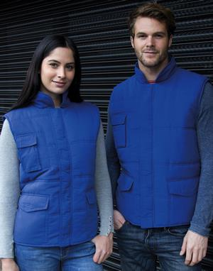Bodywarmers broderie bleu