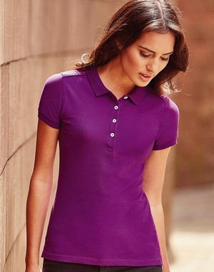 Polos femme coupe moulant serigraphie