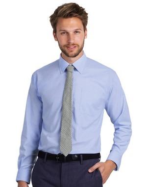 Chemises manches longues gris col avec boutons