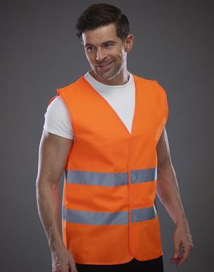 Gilet de sécurité unisexe orange