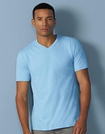 T-shirts flocage Premium Cotton Adult V-Neck T-Shirt Gildan