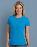 T-shirts femme broderie Premium Cotton Ladies RS T-Shirt Gildan