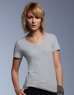 T-shirts anvil flocage Women s CRS Sheer V-Neck Tee Anvil