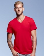 T-shirts anvil flocage Adult Featherweight V-Neck Tee Anvil
