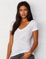 T-shirts flocage Simone Burnout V-Tee Bella