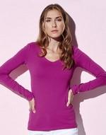 T-shirts femme avec elastanne Claire Long Sleeve Stars by Stedman