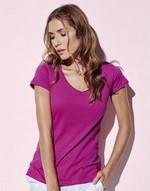 T-shirts femme Megan V-neck Stars by Stedman