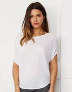T-shirts flocage Flowy Circle Top Bella