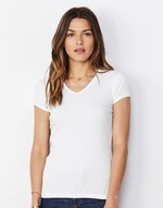 T-shirts femme bella Ladies V-Neck T Bella