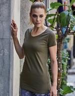 T-shirts femme avec elastanne Ladies Stretch Tee Extra Long Tee Jays