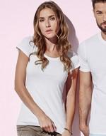 T-shirts femme avec elastanne Claire Crew Neck Stars by Stedman