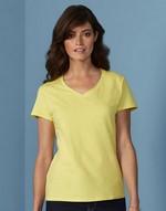 T-shirts flocage Premium Cotton Ladies V-Neck T-Shirt Gildan