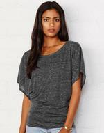 T-shirts flocage Flowy Draped Sleeve Dolman Tee Bella