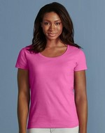T-shirts flocage Softstyle® Ladies` Deep Scoop T-Shirt Gildan