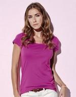 T-shirts femme Megan Crew Neck Stars by Stedman