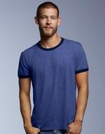 T-shirts anvil flocage Adult Fashion Basic Ringer Tee Anvil