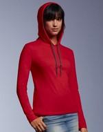 T-shirts flocage Tee-shirt femme capuche Anvil