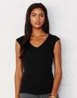 T-shirts flocage Tori - Sheer Rib V-Neck Shirt Bella