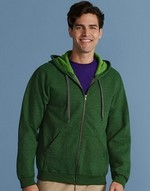 Mens Vintage Full Zip Hood Sweat
