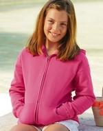 Sweats-shirts enfant Kids Hooded Sweat Jacket Fruit of the Loom