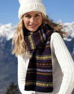 Gants et écharpes Arran Heavy Knit Scarve Result Winter Essentials