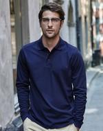 Polos homme coupe cintrée Luxury LS Stretch Polo Tee Jays