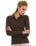 Polos coupe cintrée impression directe Ladies Long Sleeve Polo B & C