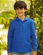 Polos fruit of the loom Kids Long Sleeve Polo 65/35 Fruit of the Loom