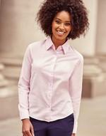 Chemises flocage Ladies Oxford Blouse LS Jerzees