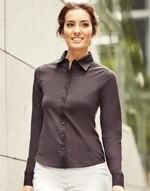 Chemises flocage Long Sleeve Shirt Stretch Top Russell