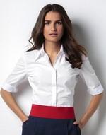 Chemises coupe cintrée flocage Blouse with 3/4 sleeve Kustom Kit