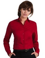 Ladies Smart Long Sleeve Poplin Shirt