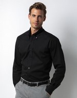 Chemises flocage City Business Shirt LS Kustom Kit