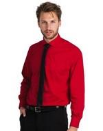 Men`s Smart Long Sleeve Poplin Shirt