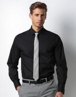 Chemises coupe cintrée flocage Slim Fit Business Shirt LS Kustom Kit
