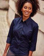 Chemises flocage Ladies Tencel Fitted 3/4 sleeve Jerzees