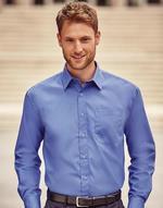 Chemises jerzees flocage Poplin Shirt LS Jerzees