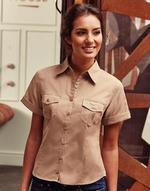 Women's Roll Sleeve Shirt Short Sleeve