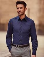 Chemises flocage Tencel Fitted Shirt LS Jerzees
