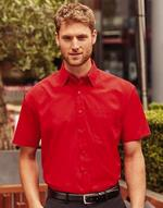 Chemises jerzees flocage Short Sleeve Poplin Shirt Jerzees