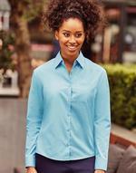 Chemises jerzees flocage Long Sleeve Poplin Blouse Jerzees